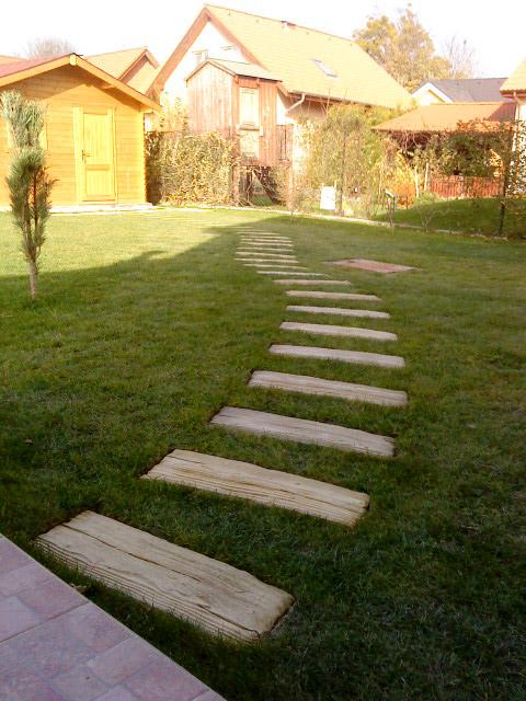 Betón v záhrade