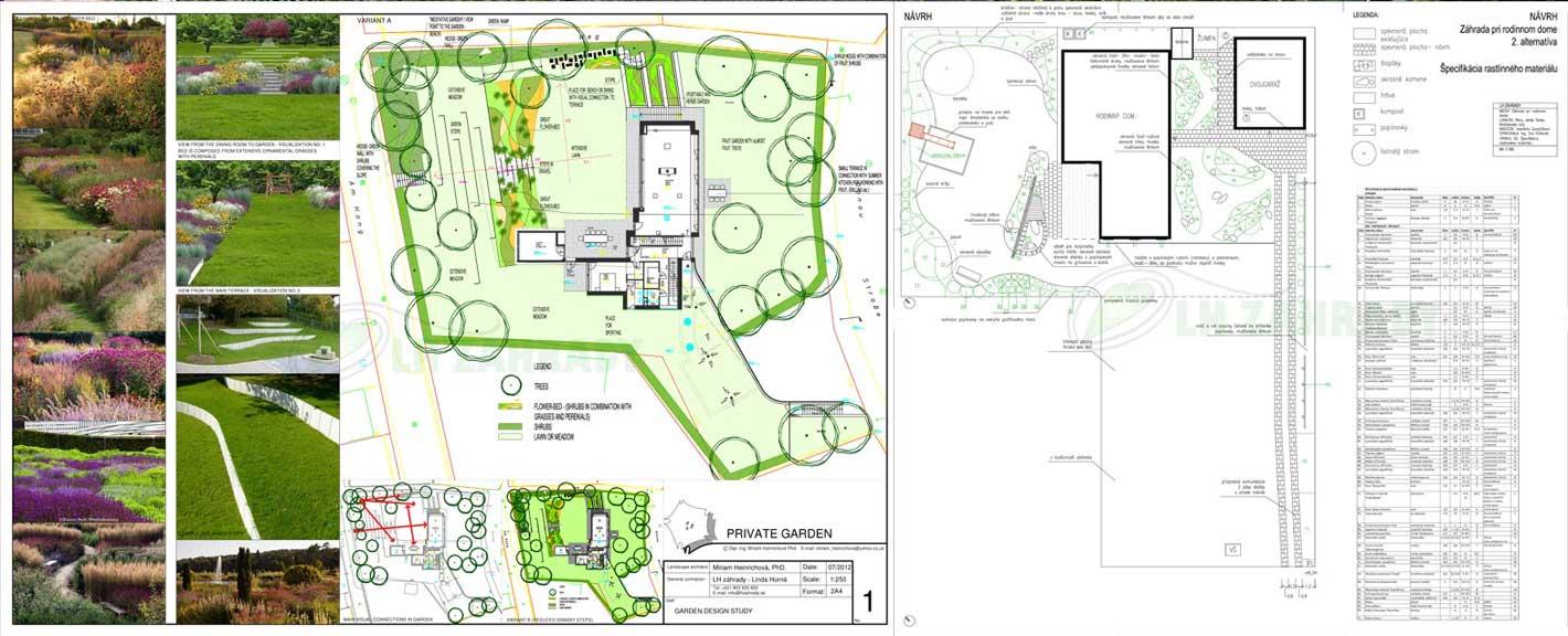 Projekt   Návrh záhrady